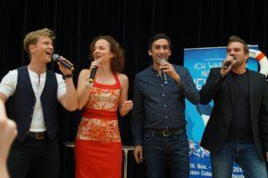 (c) Iris Hamann Maybe Musical v.l.n.r. Uli Scherbel, Sarah Schütz, Gianni Meurer, Karim Khawatmi